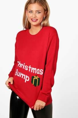 boohoo Maternity Christmas Bump Jumper