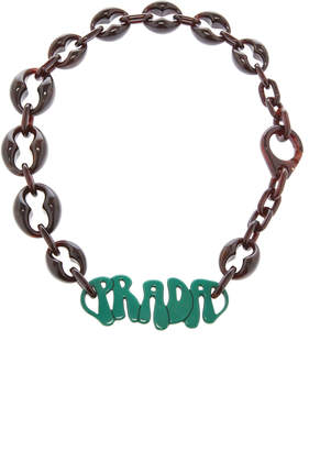 Chunky Plex Chain Necklace Prada EpThUzGD