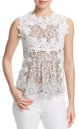 Aqua Daisy Appliquéd Lace Top - 100% Exclusive