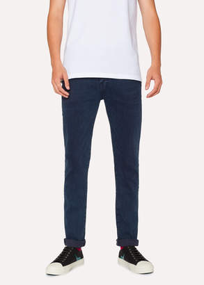 Paul Smith Men's Slim-Fit 'Reflex Super Stretch' Navy Over-Dye Jeans
