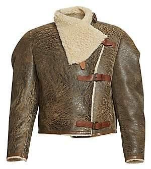 Isabel Marant Women's Anadia Shearling & Leather Aviator Jacket