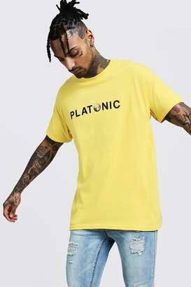 boohoo Oversized Platonic Printed T-Shirt