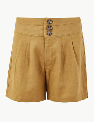 Marks and Spencer Pleated Front Pure Linen Shorts