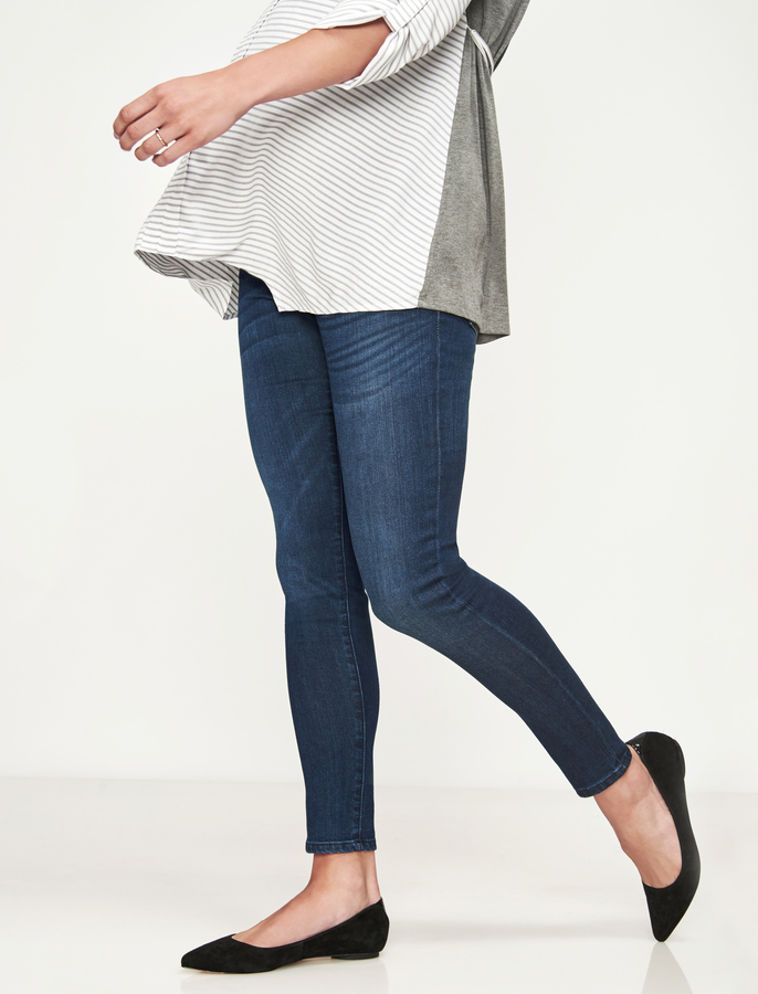 A Pea In The PodLuxe Essentials Denim Secret Fit Belly Ankle Skinny Maternity Jean