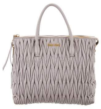 Miu Miu Matelassé Pleated Top Handle Bag