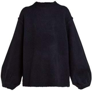 Acne Studios Kiara Oversized Sweater - Womens - Navy