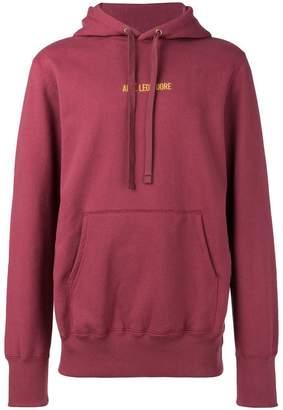 Leon Aimé Dore logo print hoodie