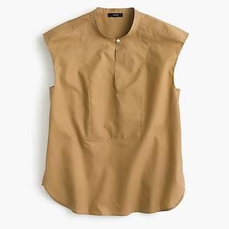 J.Crew Cap-sleeve top in cotton poplin