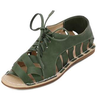 c95c49778ea Bohemia DoraTasia Women s Comfy Peep Toe Criss Cross Flat Sandals