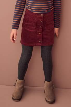 Next Girls Burgundy Cord Skirt (3-16yrs) - Red