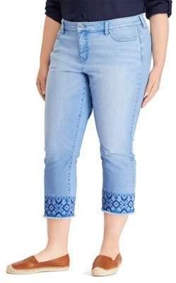 Lauren Ralph Lauren Plus Ultimate Slimming Premier Straight Cropped Jeans