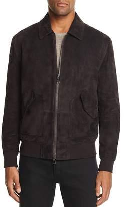 John Varvatos Collection Suede Easy Fit Flight Jacket