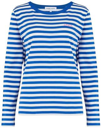 9ad54ad70d Maison Labiche Amour Long Sleeve Sailor Stripe Tee in Blue and White