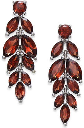 Macy's Rhodolite Garnet Vine Drop Earrings (7 ct. t.w.) in Sterling Silver