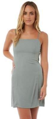 New The Hidden Way Women's Gerty Slim Fit Dress Cotton Green 14