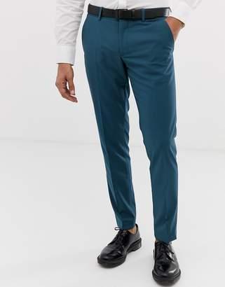 Esprit slim fit suit trousers in blue