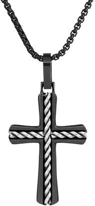 Silver Cross FINE JEWELRY Mens Sterling Pendant Necklace