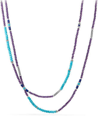 David Yurman Tweejoux® Long Bead Necklace in Purple/Blue Stone Mix, 36""