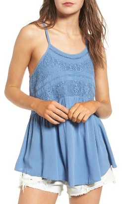 Women's Sun & Shadow Crochet Trim Racerback Tank $35 thestylecure.com