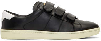 Saint Laurent Black Court Classic Strap Sneakers