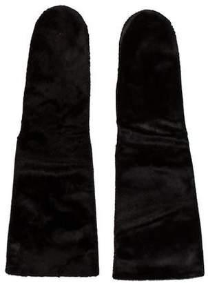 Marni Fur & Leather Mittens