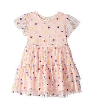 Stella McCartney Embroidered Stars Tulle Dress (Toddler/Little Kids/Big Kids)
