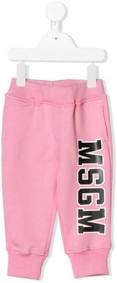 MSGM logo sweat pants
