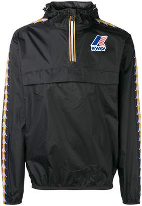 Kappa brand stripe windbreaker sweater