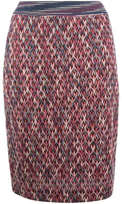 Missoni knitted midi straight skirt