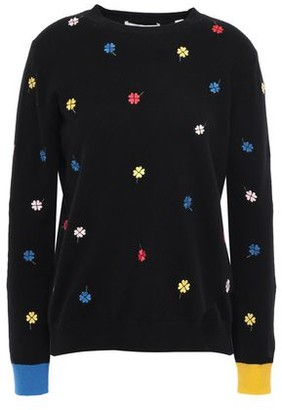 Chinti and Parker Embroidered Cashmere And Wool-blend Sweater