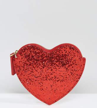 Lulu Guinness Red Glitter Heart Purse