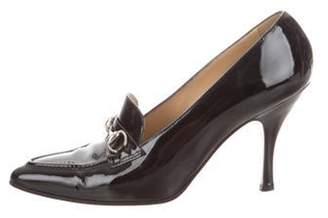 Gucci Pointed-Toe Horsebit Pumps Black Pointed-Toe Horsebit Pumps