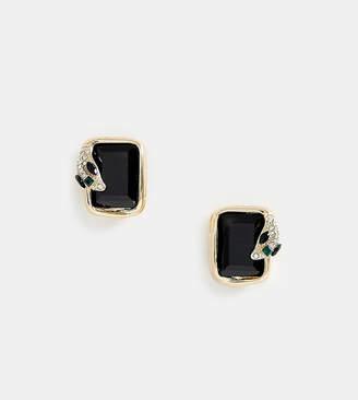 Aldo Waysa snake wrap emerald studs