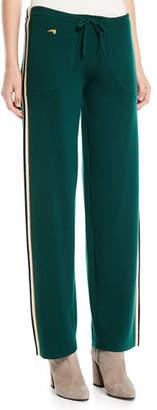 Bella Freud Race Track Side-Stripe Wool Track Pants
