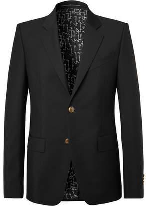 Givenchy Black Slim-Fit Wool and Mohair-Blend Blazer - Men - Black