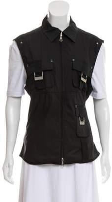 J. Lindeberg Zip-Up Vest Black Zip-Up Vest