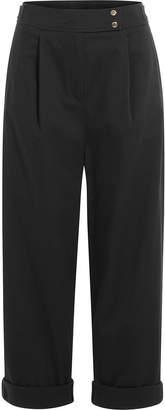 Kenzo Wide Leg Cotton Pants