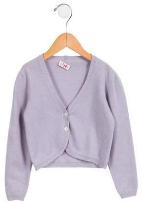 Il Gufo Girls' Merino Wool Knit Cardigan
