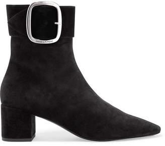 Saint Laurent Joplin Suede Ankle Boots - Black