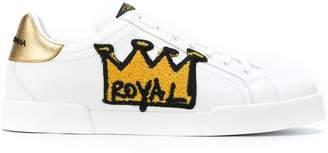 Dolce & Gabbana Portofino royal patch sneakers