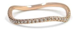 Bond Eye Bondeye 14K Rose Gold, White Diamond Wave Ring