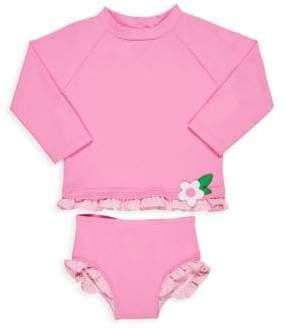 Florence Eiseman Baby Girl's& Little Girl's Two-Piece Long Sleeve Top& Briefs Rashguard Set
