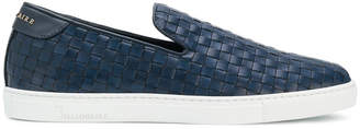 Billionaire woven slip-on sneakers
