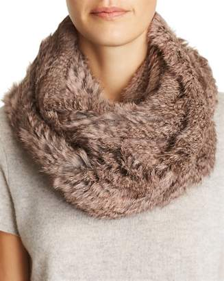 Jocelyn Knit Rabbit Fur Infinity Scarf
