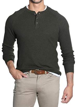 Tailor Vintage Men's Waffle Henley Sweater