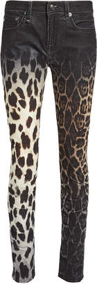 R 13 Alison Mix Print Skinny Jeans