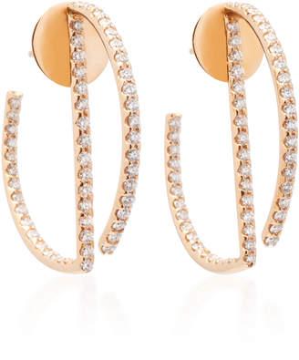 Kavant & Sharart Geo Art 18K Rose Gold Diamond Earrings