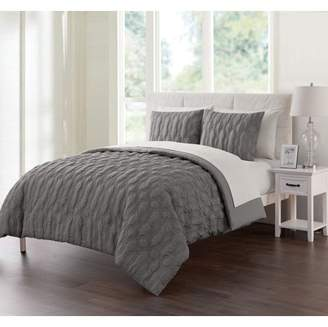 Linx VCNY Home Geometric Embossed 5/7-Piece Bed in a Bag Comforter Set with Sheet Set, Multiple Sizes and Colors