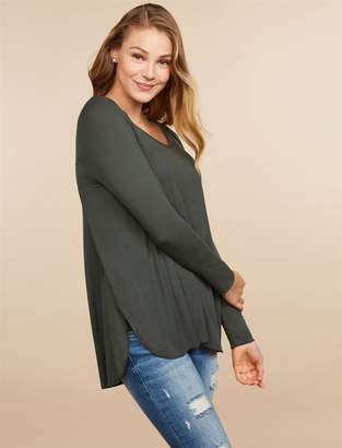 fa41a5a3098 Jessica Simpson Motherhood Maternity Side Access Side Slit Nursing Top