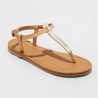 Universal Thread Women's Hartley T Strap Thong Sandals